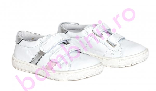 Pantofi fete pj shoes Skate alb roz 27-37
