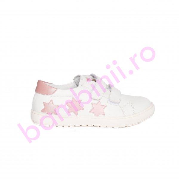 Pantofi fete pj shoes Skate alb stelute roz 27-37