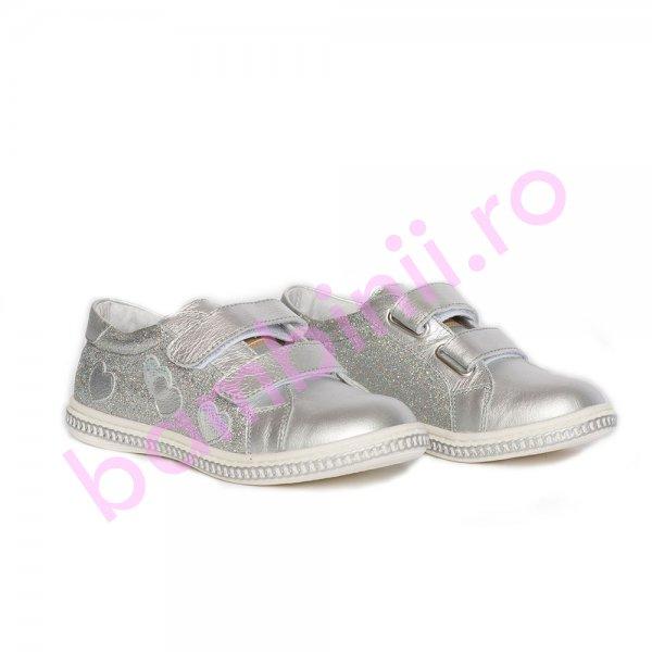 Pantofi fete pj shoes Skate argintiu 27-37