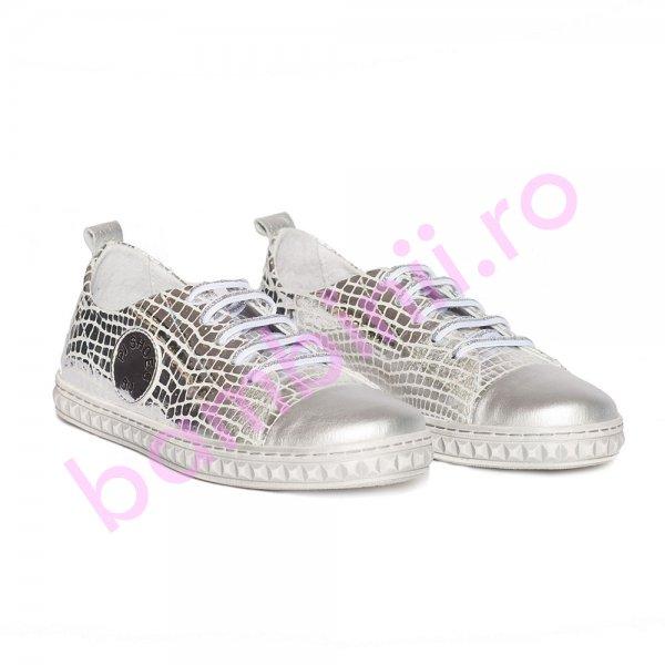 Pantofi fete pj shoes Tag argintiu 27-36