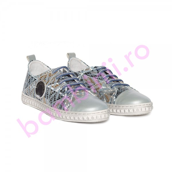 Pantofi fete pj shoes Tag gri print 27-36