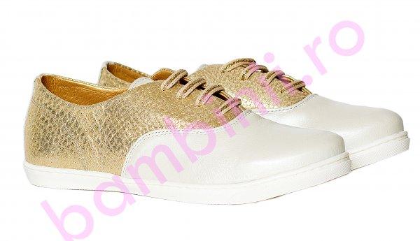 Pantofi fete pj shoes Taggy auriu 27-36