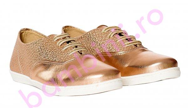 Pantofi fete pj shoes Taggy bronz 27-36