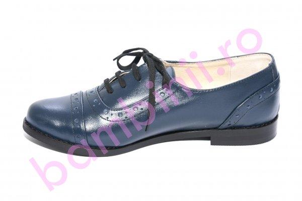 Pantofi fete scoala piele 26S1 blumarin 34-41
