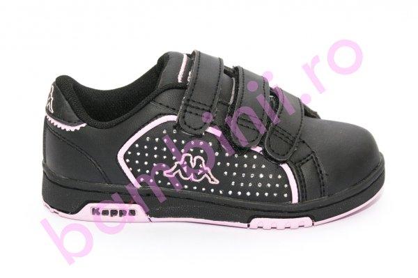 Pantofi fete sport Kappa 302 negru roz 27-34