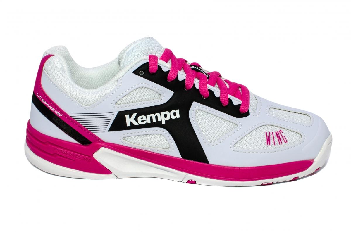 Pantofi fete sport Kempa WIng Lite 2017 alb roz 28-39