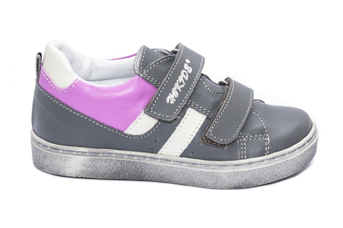 Pantofi fete sport hokide 316 gri mov 22-30