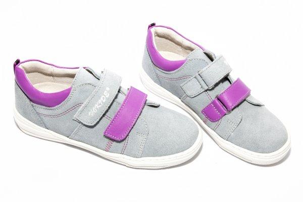 Pantofi fete sport hokide 353 gri mov 31-35