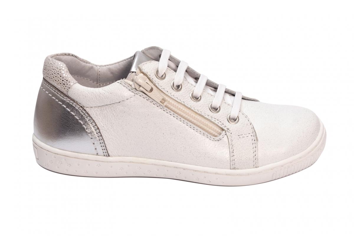Pantofi fete sport hokide 400 alb arg 20-37