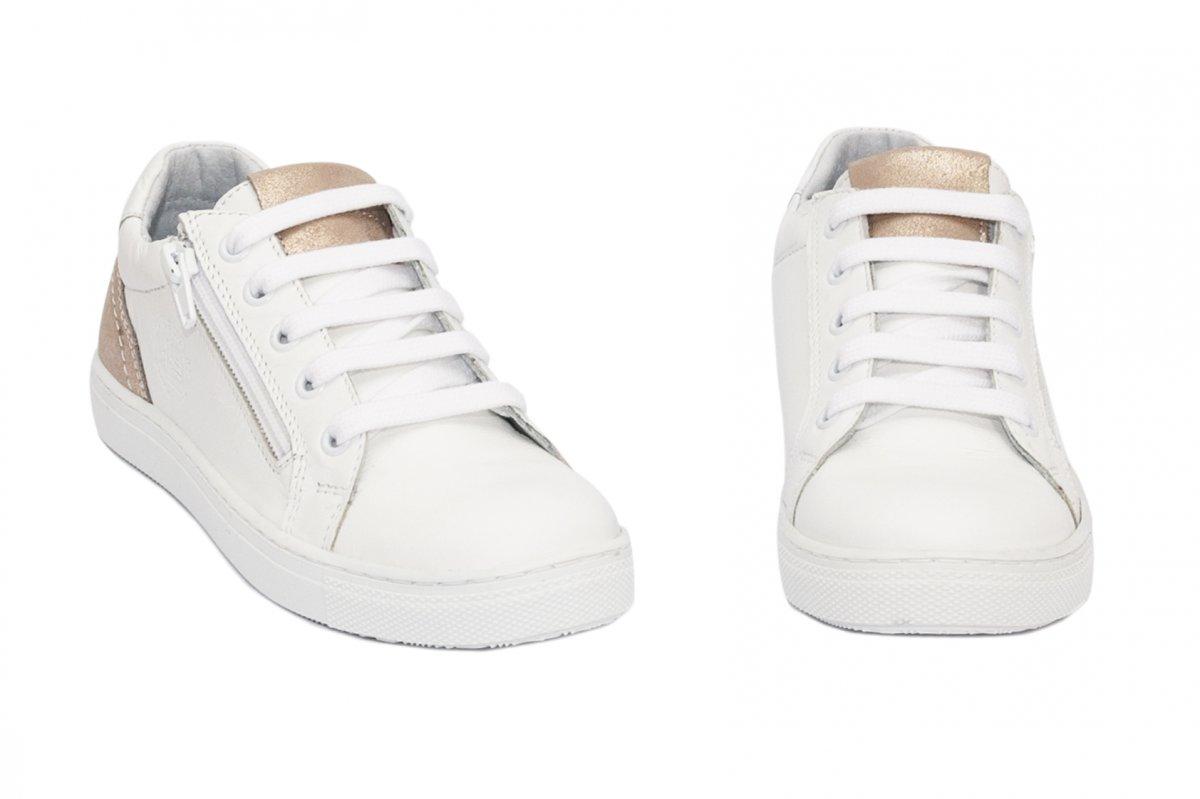 Pantofi fete sport hokide 400 alb auriu 26-37