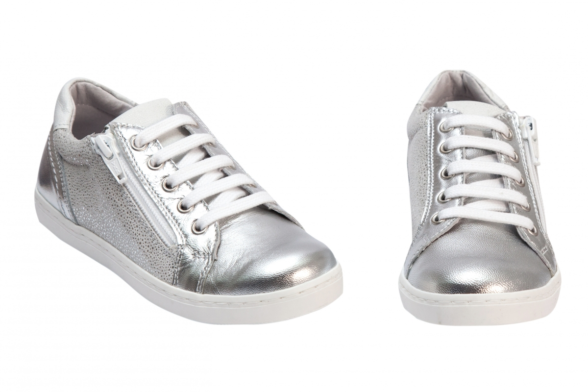 Pantofi fete sport hokide 400 argintiu 31-37