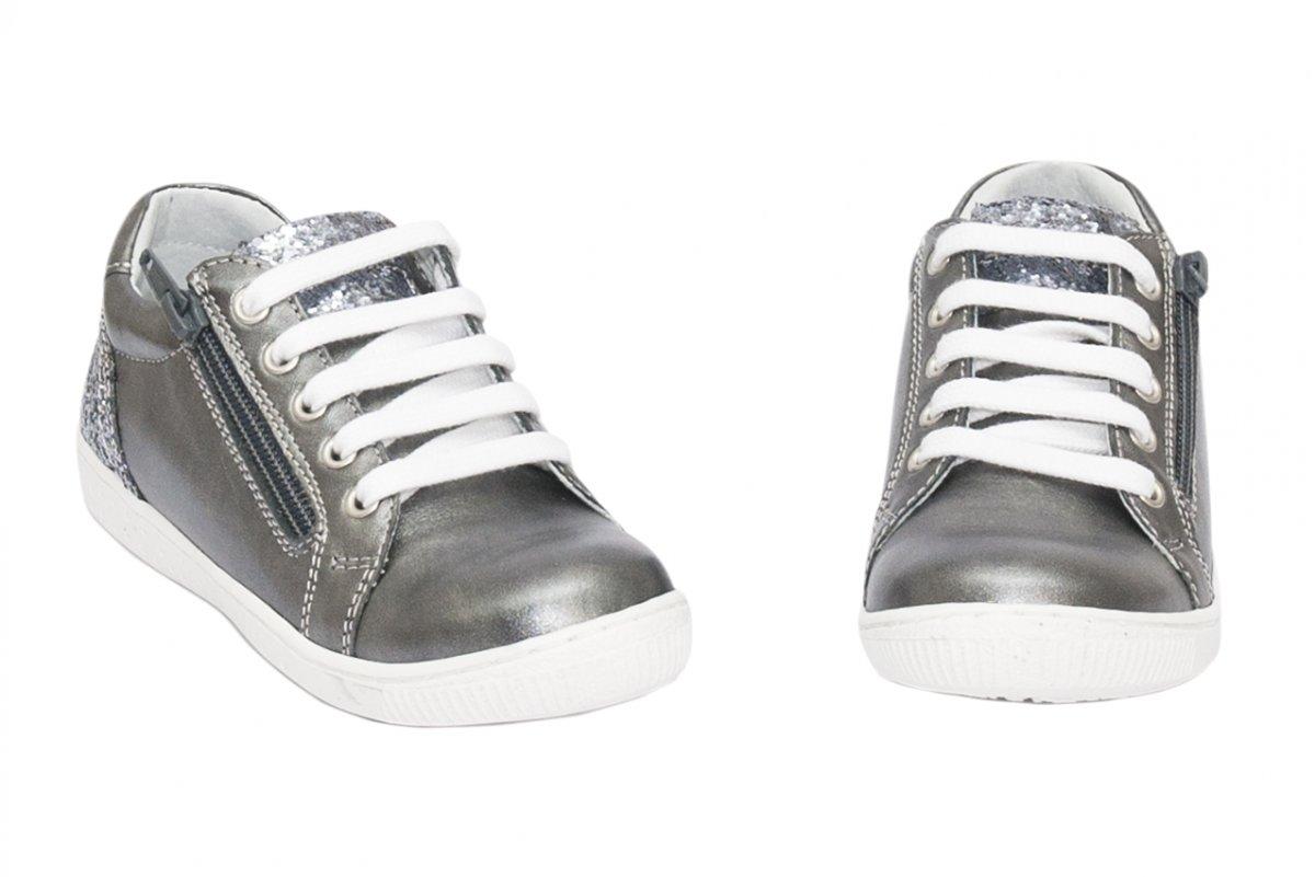 Pantofi fete sport hokide 400 gri gliter 26-37