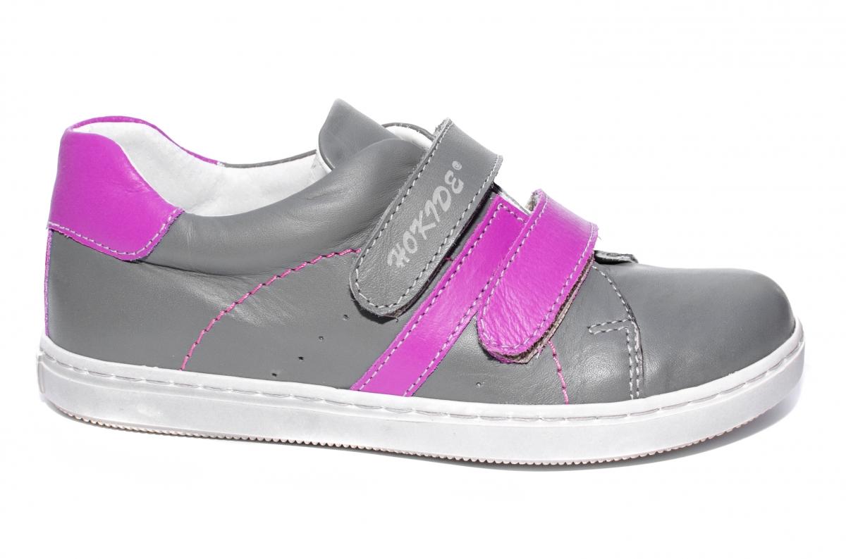 Pantofi fete sport hokide 409 gri mov 26-35