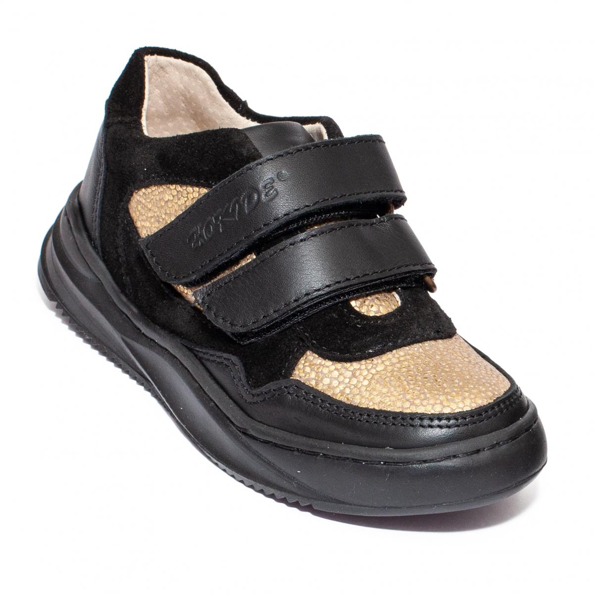 Pantofi fete sport hokide 450 negru auriu 26-37