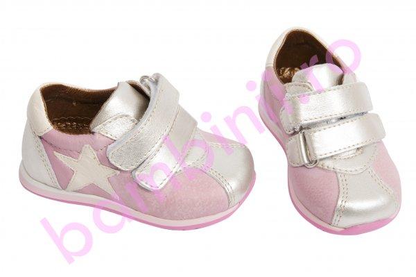 Pantofi fete sport piele avus 575 roz argintiu 19-27