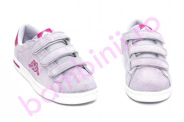 Pantofi fete sport piele intoarsa Kappa 302 mov 35-40