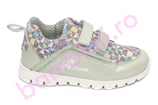 Pantofi fete sport pj shoes Salvatore gri vernil 27-36