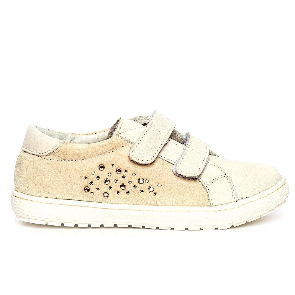 Pantofi fete sport pj shoes Skate alb velur 27-37