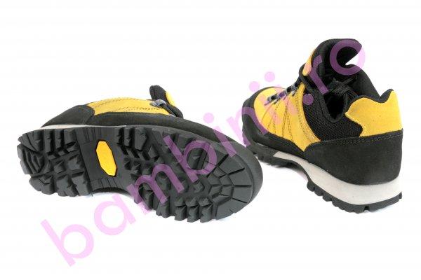 Pantofi goretex vibram negru galben