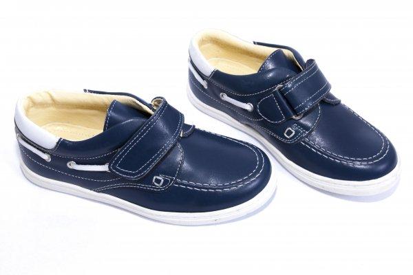 Pantofi mocasini baieti 122 albastru 23-37