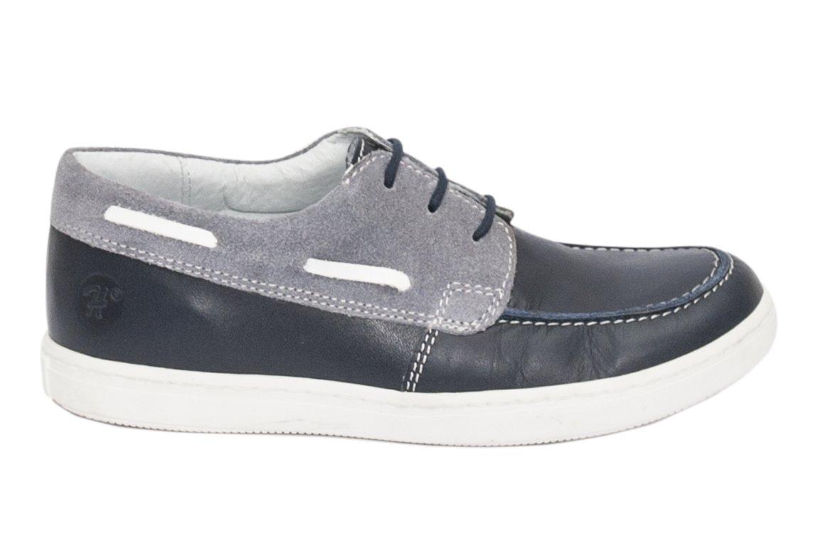 Pantofi mocasini baieti hokide 408 blu gri 26-37