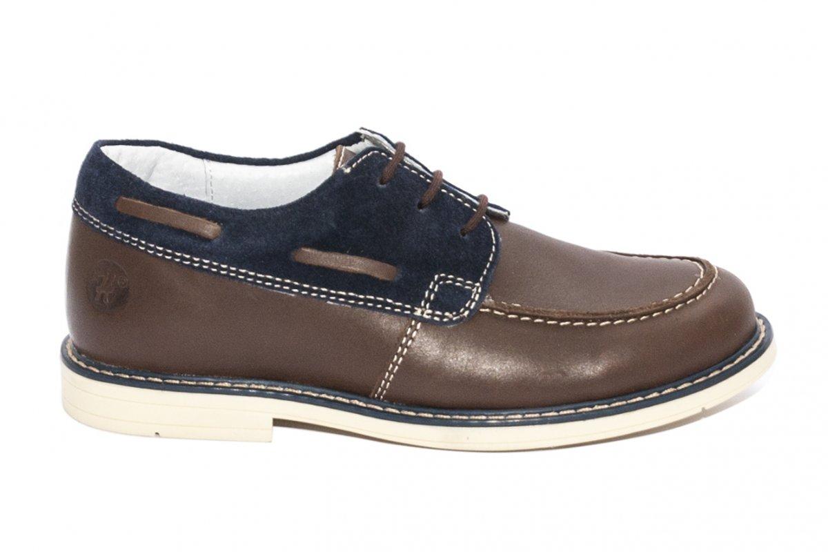 Pantofi mocasini copii hokide 408 maro blu 26-37