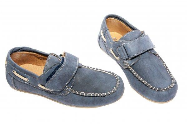 Pantofi mocasini baieti pj shoes Jose albastru 27-36