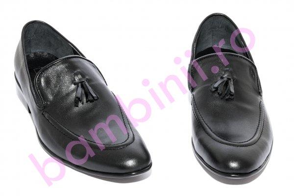 Pantofi mocasini barbati BC1 negru 38-44
