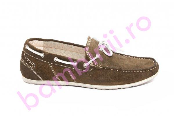 Pantofi mocasini barbati piele intoarsa 873 kaki 39-45