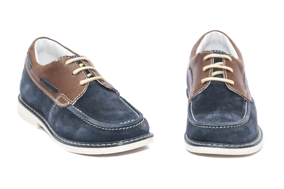 Pantofi mocasini copii hokide 408 blu maro 26-37