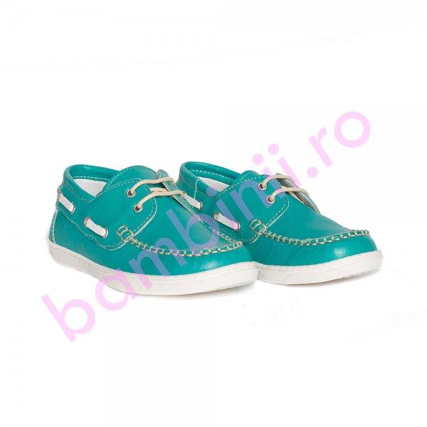 Pantofi mocasini copii pj shoes Jose verde 27-36