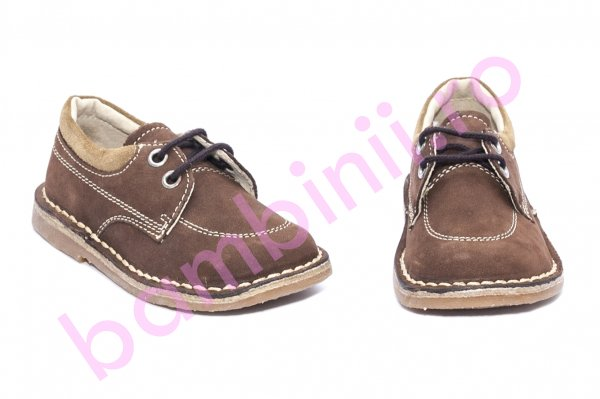 Pantofi mocasini copii tino 3166 maro 19-25