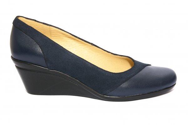 Pantofi platforma dama 219 blu 34-41