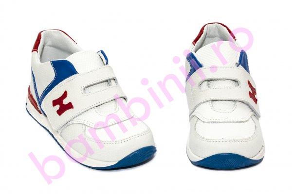 Pantofi sport copii hokide 395 alb rosu blu 26-30