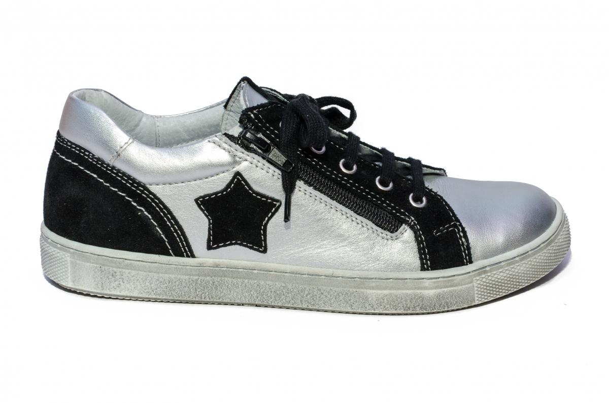 Pantofi sport copii hokide 400 argintiu negru 26-37