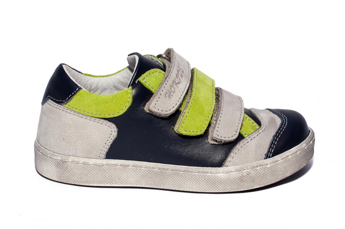 Pantofi sport copii hokide 560 blu gri verde 26-35
