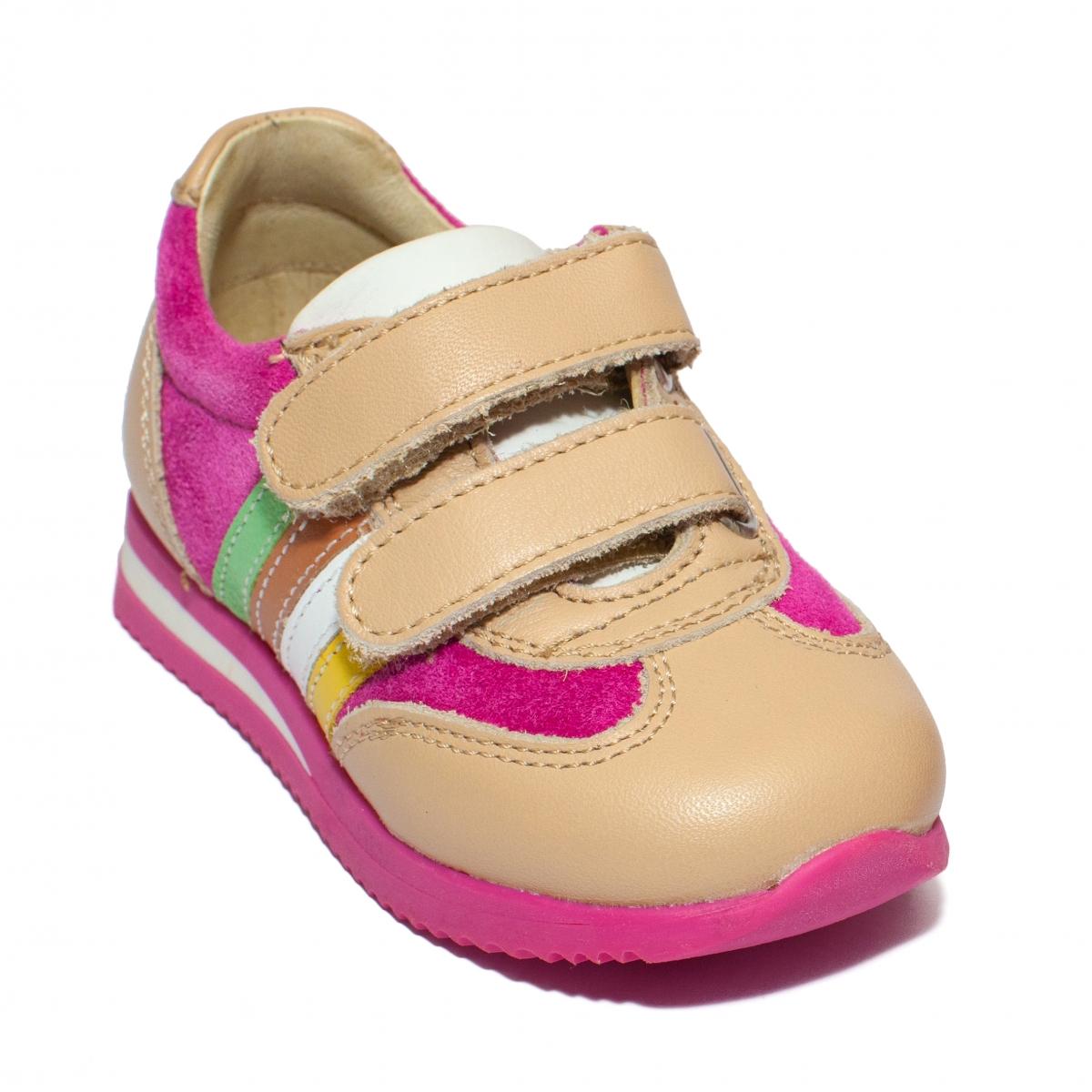 Pantofi sport fete 729 fuxia bej 19-28
