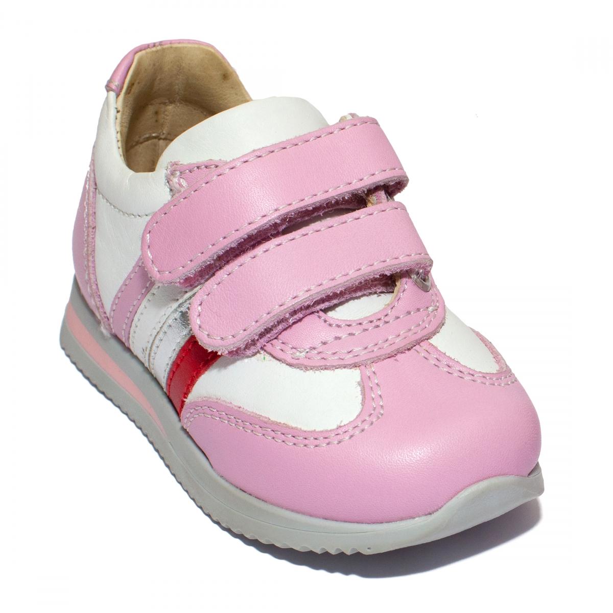 Pantofi sport fete 730 alb roz 19-28