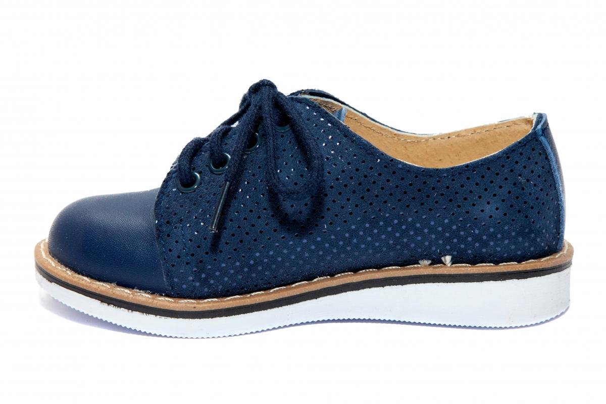 Pantofiori fetite piele DM 1399 blu lux 19-25