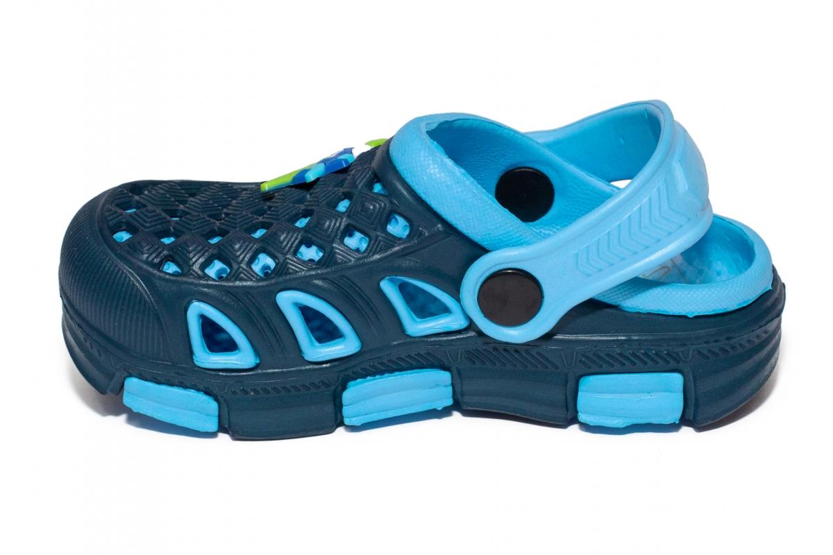 Papuci baieti de plaja crocs 5668 blu blue 18-35