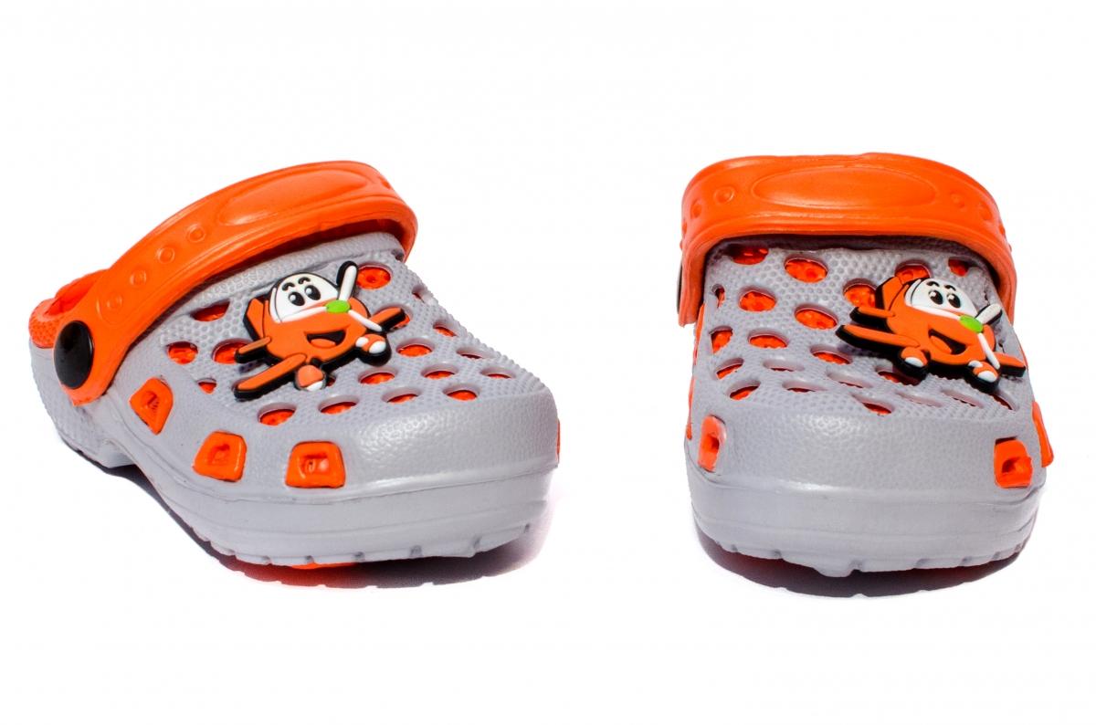 Papuci copii cauciuc crocs 1008 gri port 18-29