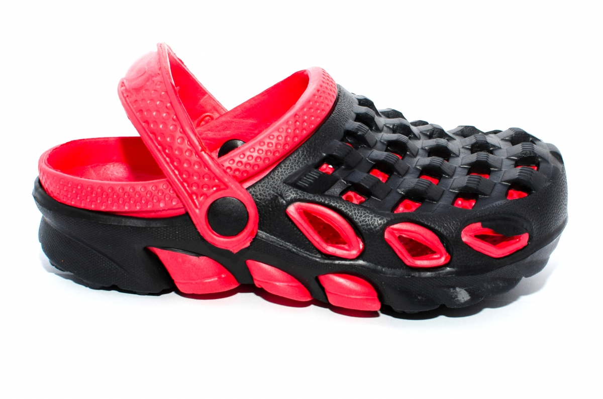 Papuci copii de plaja 1033 negru rosu 30-35
