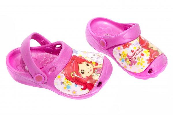 Papuci crocsi copii Strawberry roz 26-33