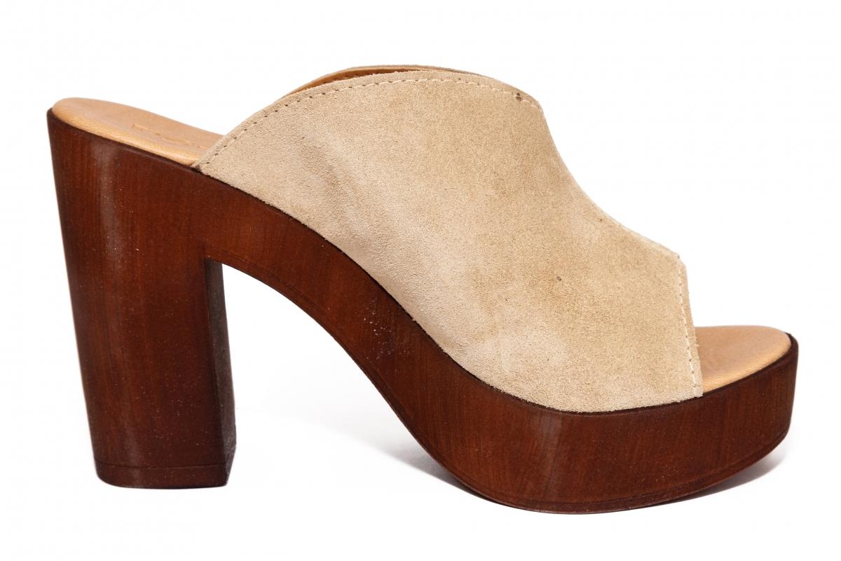 Papuci dama cu toc Port'er 66185 bej 35-41