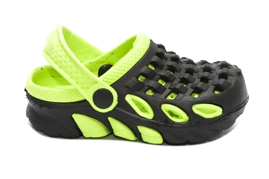 Papuci de plaja copii 1033 negru verde 18-29