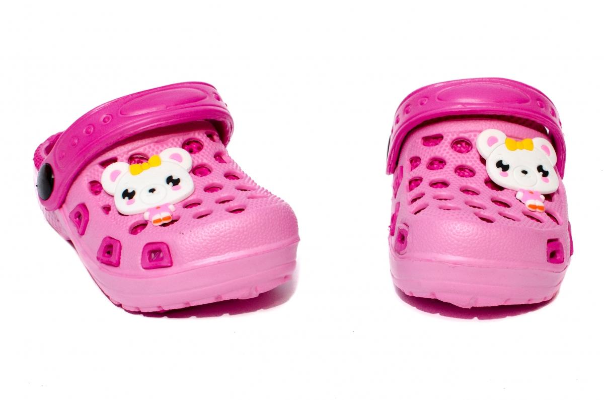 Papuci fete cauciuc crocs 1008 fuxia roz 18-29