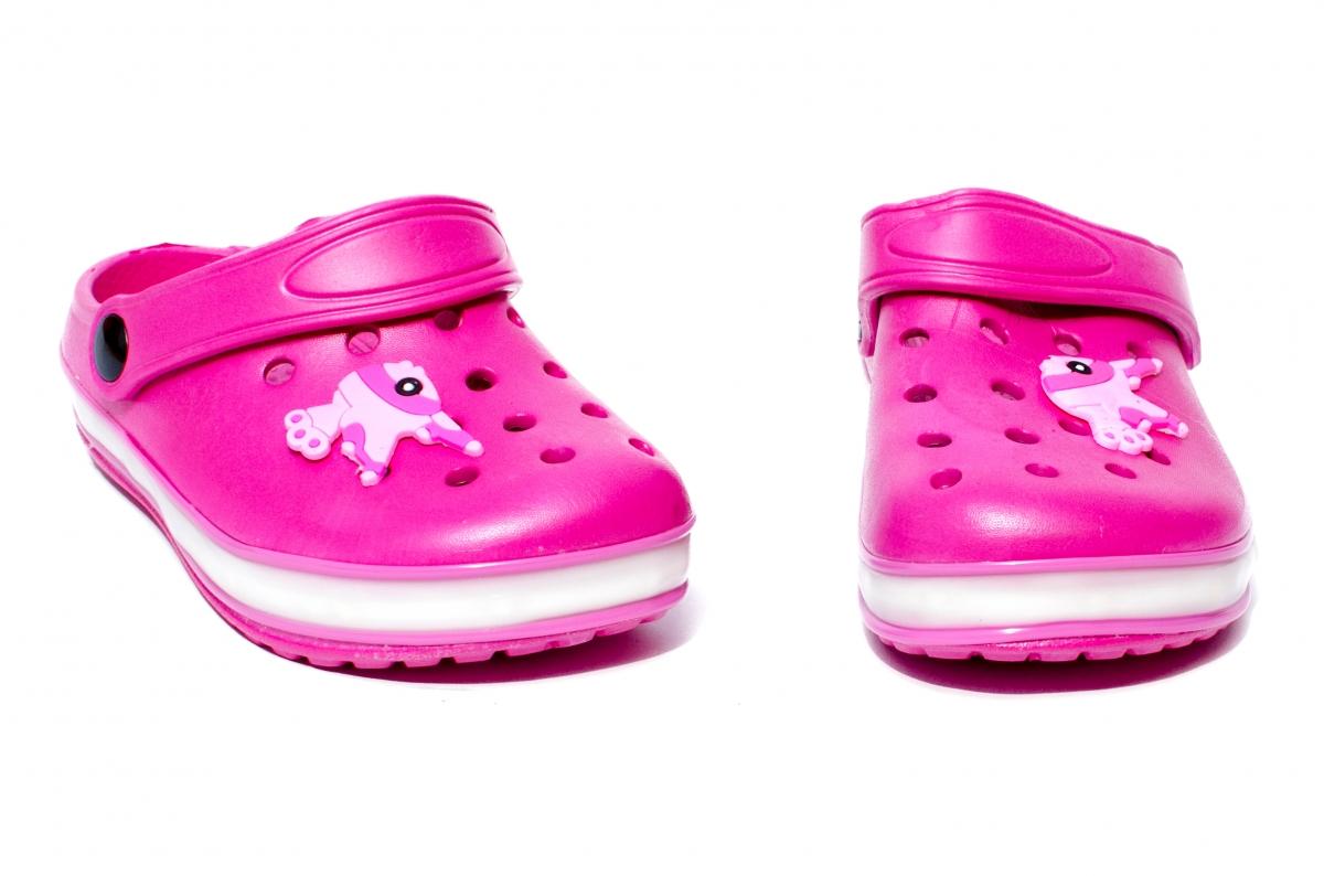 Papuci fete cu leduri 1293 fuxia 22-29
