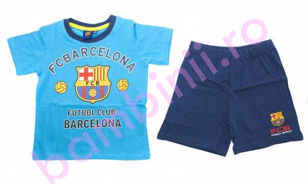Pijamale baieti Barcelona 1978 turcoaz