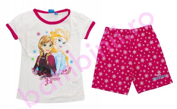 Pijamale fete Sisters Frozen 1979 alb 98-134