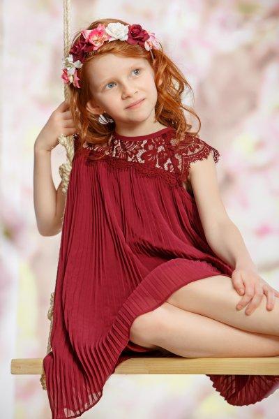 Rochie fete hey princess Begonia 118 mov 7-12ani